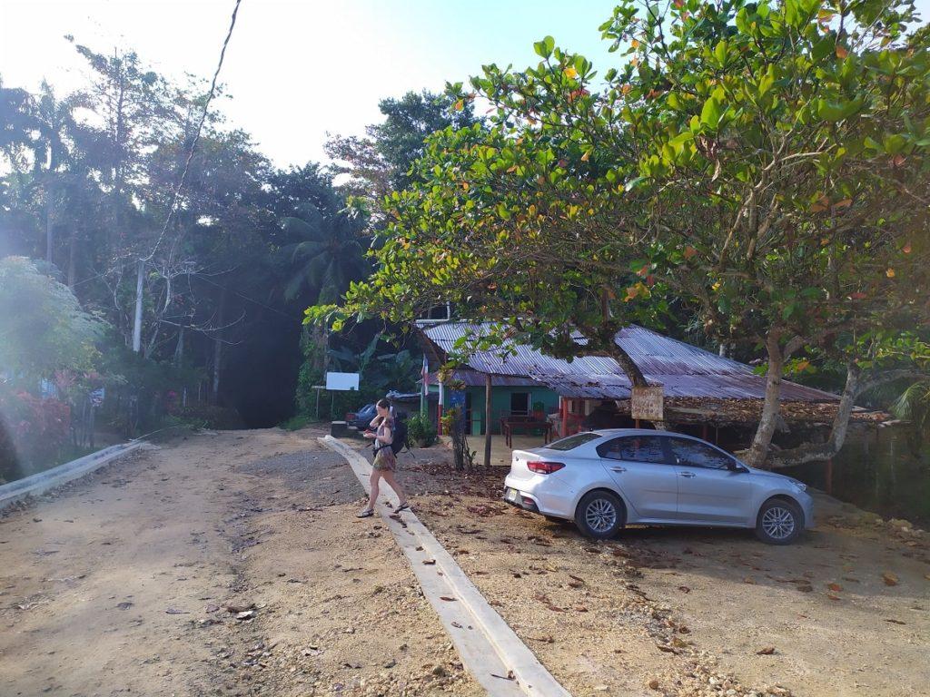 парковка к водопаду доминикана