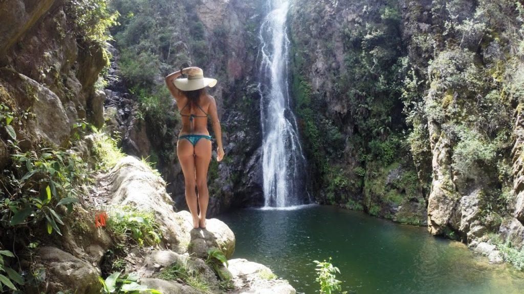 Водопад Агуас Бланкас в Доминикане