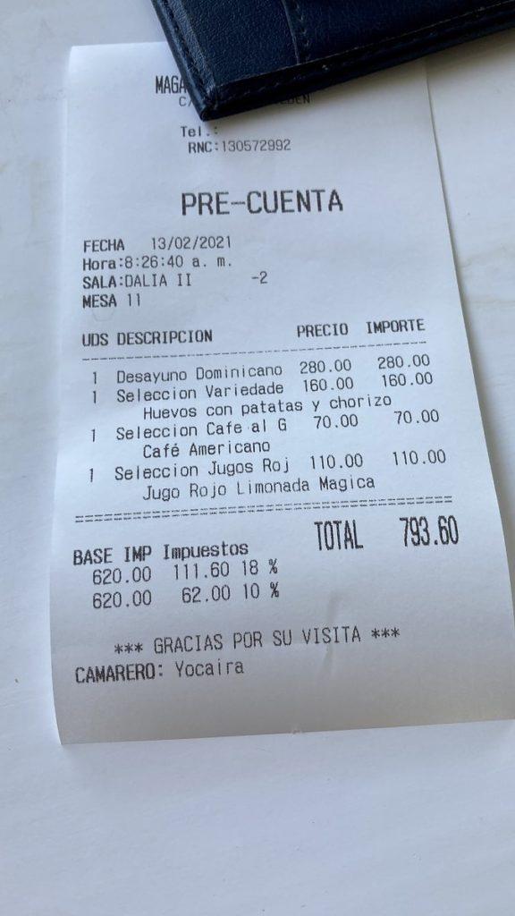 рестораны доминиканы налоги и чаевые