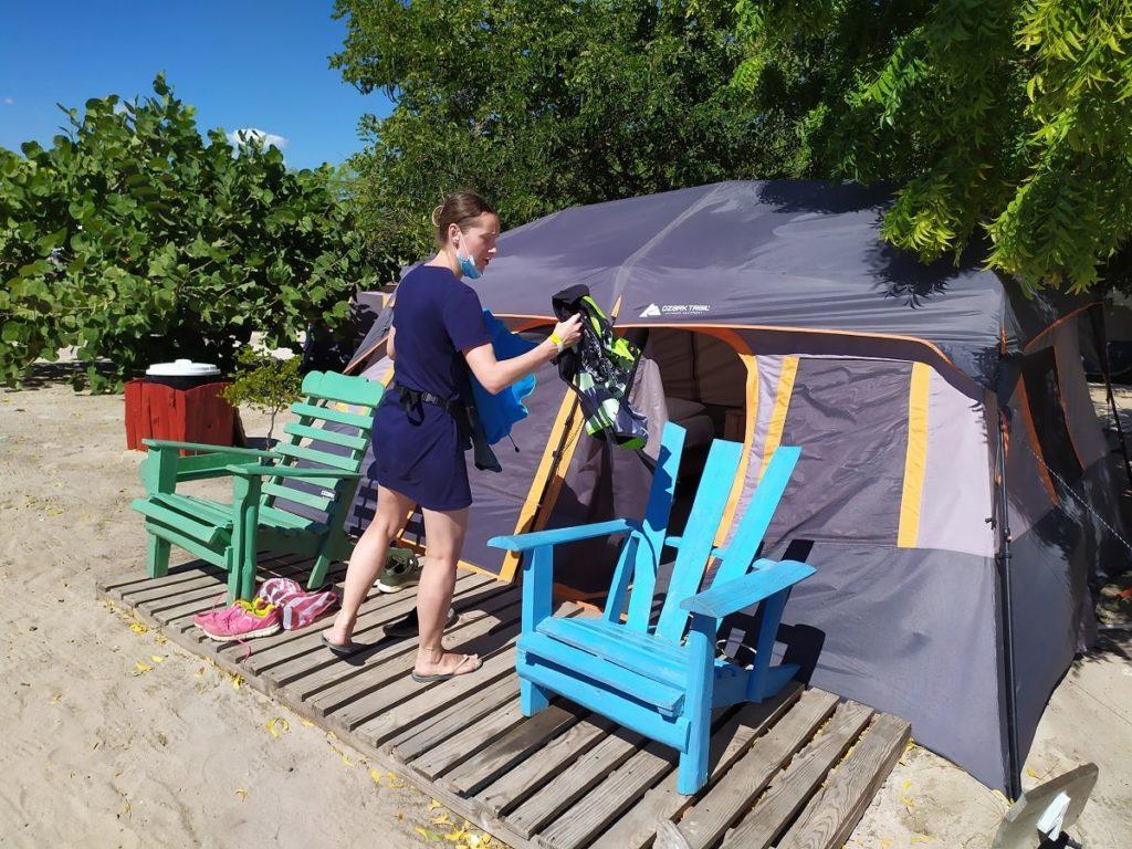 Наша палатка в глемпинге