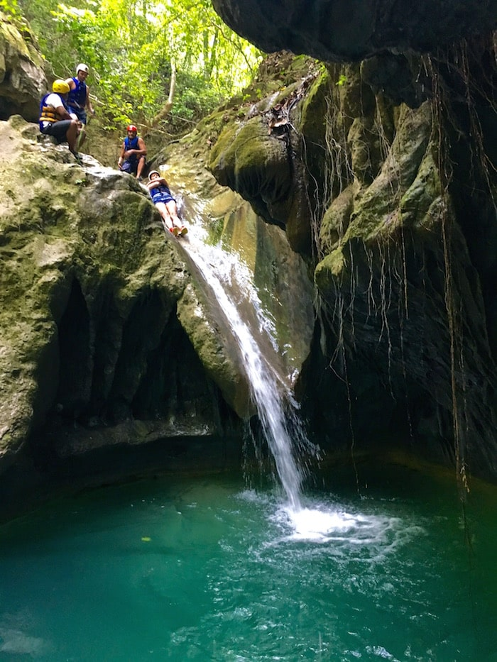 прыжки со скалы в доминикане