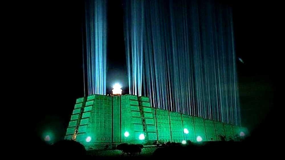 Маяк Колумба ночью