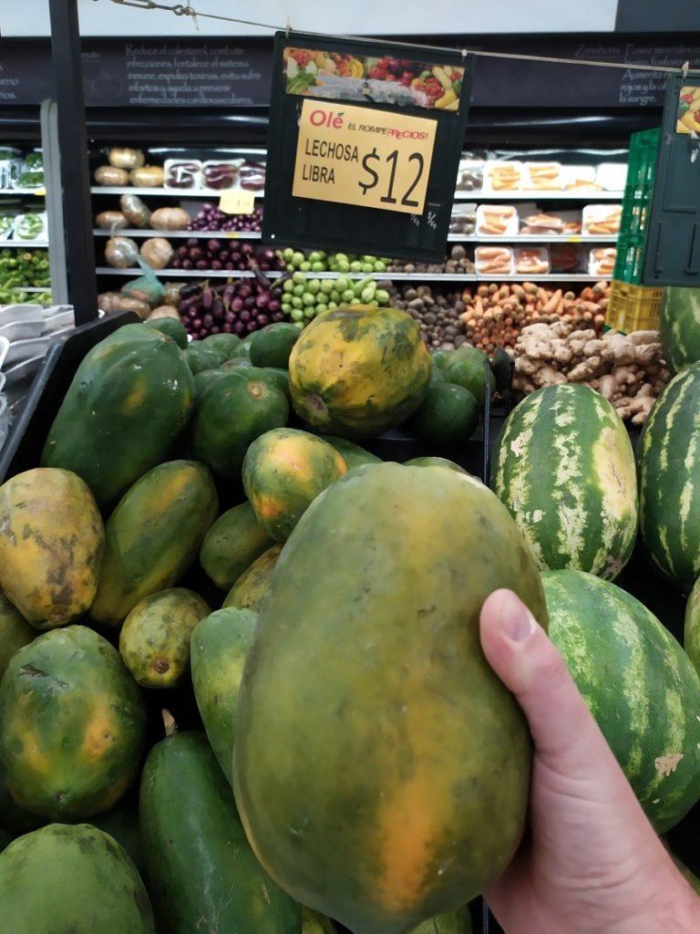 фрукты Доминиканы папайя