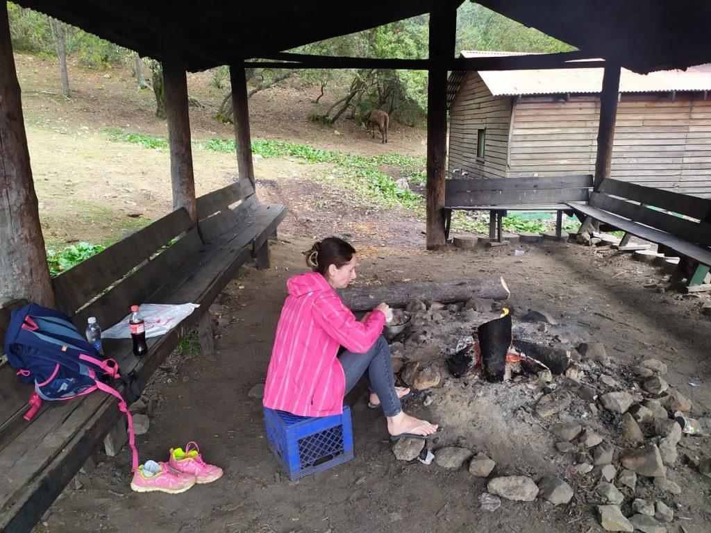 Зона отдыха в базовом лагере