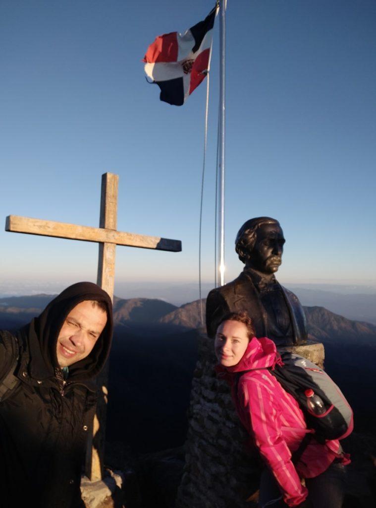 Жена и я на вершине Доминиканы