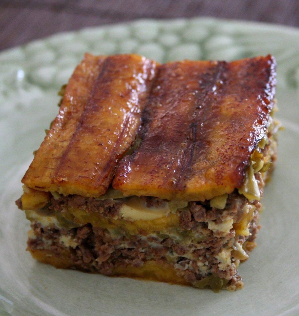 Платанос - доминиканский пирог