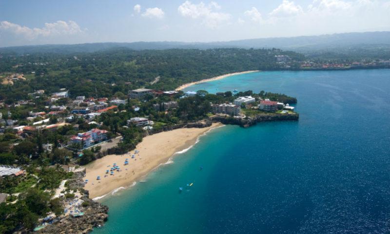 Вид на город Доминиканы с высоты