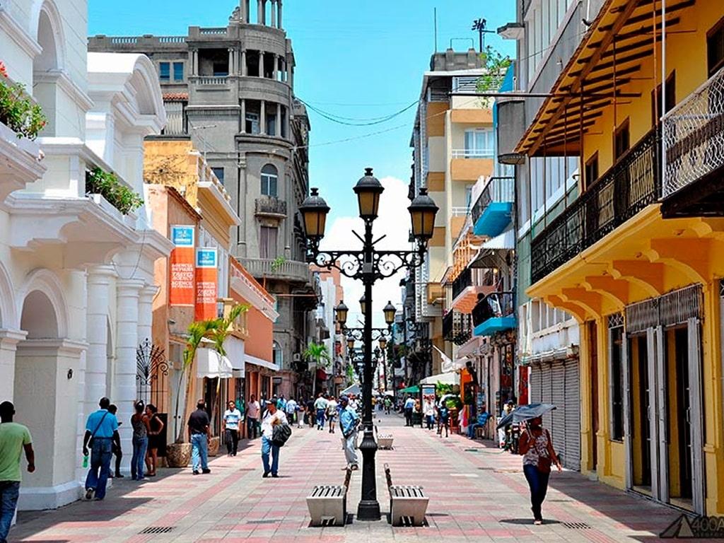 Улица Дам в сердце столицы Доминиканы