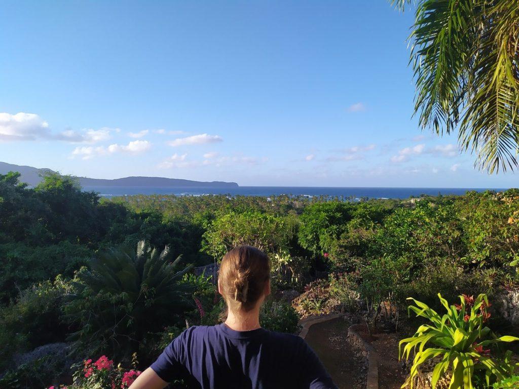 Вид из эко-виллы на океан и город лас галерас