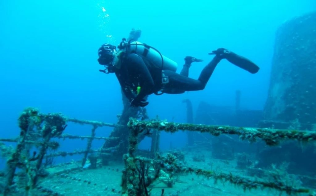 затонувший корабль в Доминикане